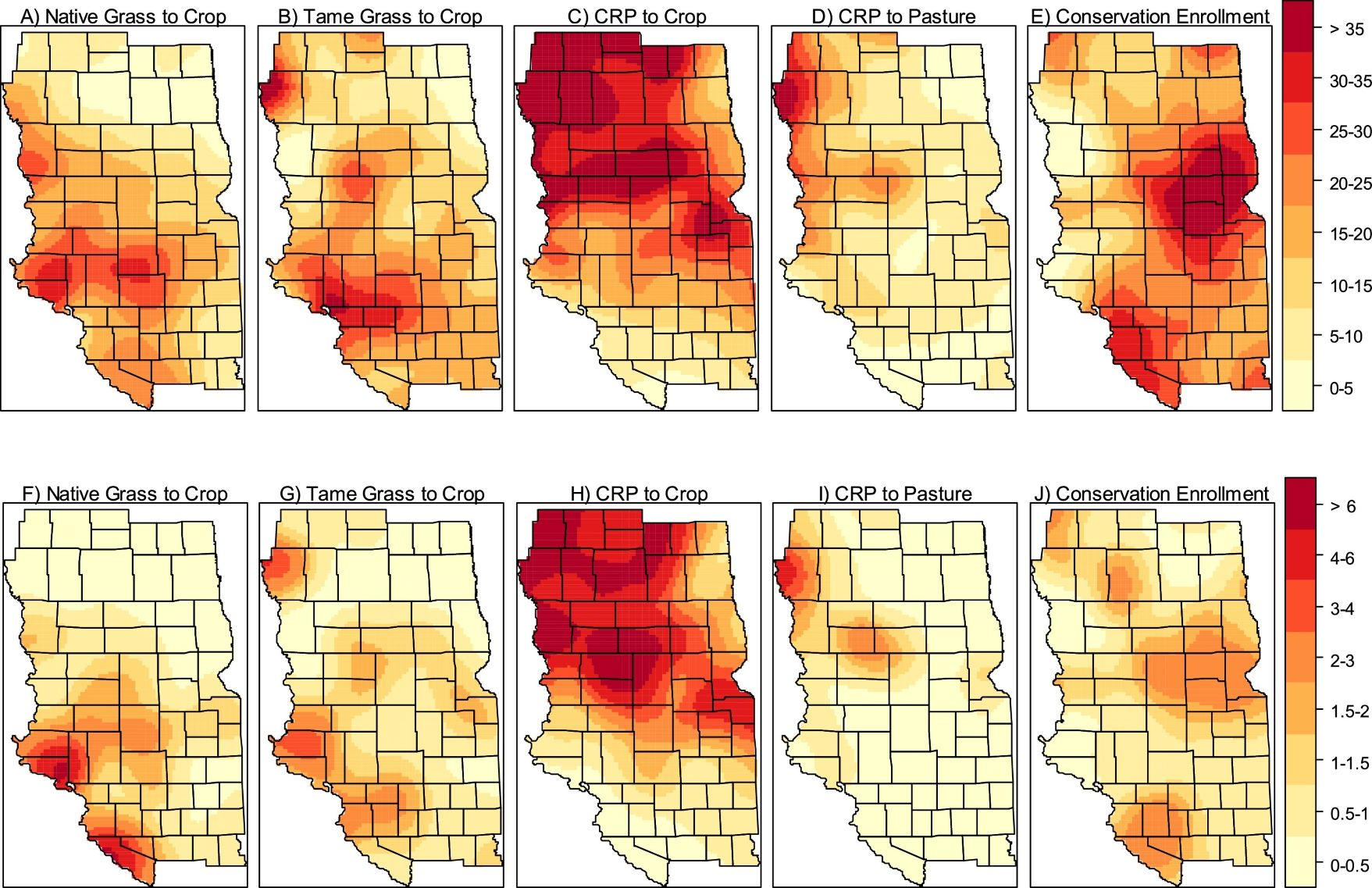 Land Use Change Maps
